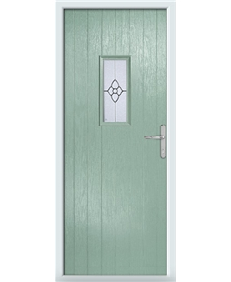 The Taunton Composite Door in Green (Chartwell) with Finesse Glazing