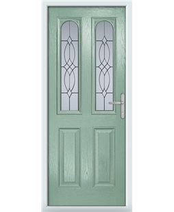 The Aberdeen Composite Door in Green (Chartwell) with Flair Glazing