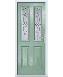 The Birmingham Composite Door in Green (Chartwell) with Flair Glazing