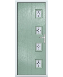 The Preston Composite Door in Green (Chartwell) with Flair Glazing