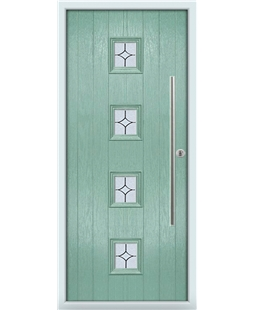 The Leicester Composite Door in Green (Chartwell) with Flair Glazing