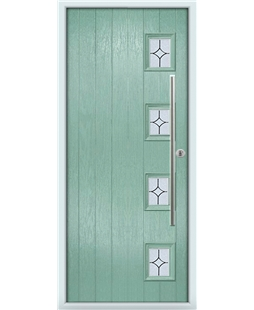The Norwich Composite Door in Green (Chartwell) with Flair Glazing