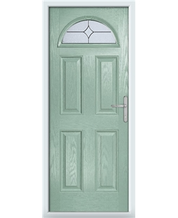 The Derby Composite Door in Green (Chartwell) with Flair Glazing