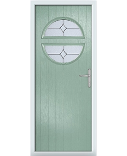 The Queensbury Composite Door in Green (Chartwell) with Flair Glazing