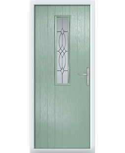 The Sheffield Composite Door in Green (Chartwell) with Flair Glazing