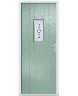 The Taunton Composite Door in Green (Chartwell) with Flair Glazing