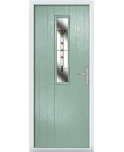 The Sheffield Composite Door in Green (Chartwell) with Fleur
