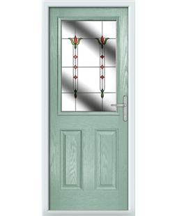 The Farnborough Composite Door in Green (Chartwell) with Fleur