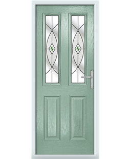 The Cardiff Composite Door in Green (Chartwell) with Green Fusion Ellipse