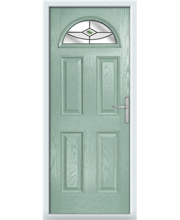 The Derby Composite Door in Green (Chartwell) with Green Fusion Ellipse