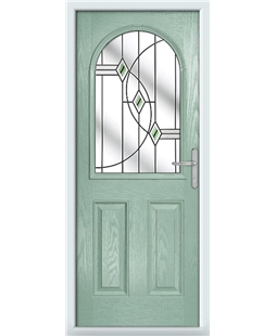 The Edinburgh Composite Door in Green (Chartwell) with Green Fusion Ellipse
