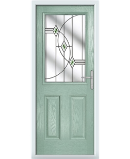 The Farnborough Composite Door in Green (Chartwell) with Green Fusion Ellipse