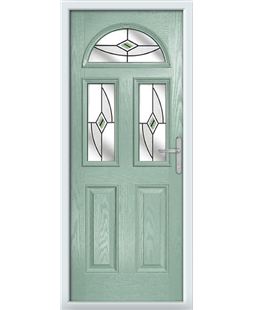 The Glasgow Composite Door in Green (Chartwell) with Green Fusion Ellipse