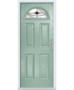 The Derby Composite Door in Green (Chartwell) with Black Fusion Ellipse