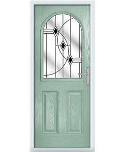 The Edinburgh Composite Door in Green (Chartwell) with Black Fusion Ellipse