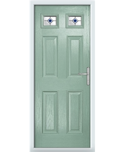 The Ipswich Composite Door in Green (Chartwell) with Blue Fusion Ellipse