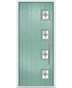 The Norwich Composite Door in Green (Chartwell) with Green Fusion Ellipse