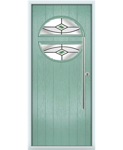 The Xenia Composite Door in Green (Chartwell) with Green Fusion Ellipse