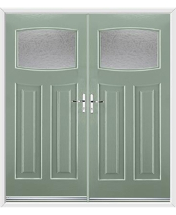 Newark French Rockdoor in Chartwell Green with Gluechip Glazing