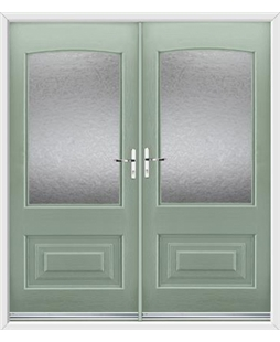 Portland French Rockdoor in Chartwell Green with Gluechip Glazing