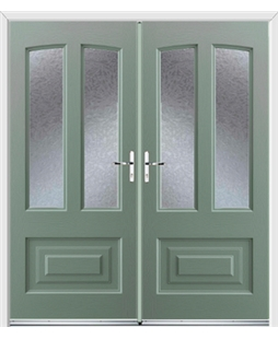 Illinois French Rockdoor in Chartwell Green with Gluechip Glazing