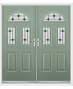 Tennessee French Rockdoor in Chartwell Green with Green Diamonds