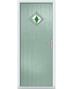 The Reading Composite Door in Green (Chartwell) with Green Diamonds