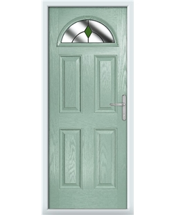 The Derby Composite Door in Green (Chartwell) with Green Diamonds