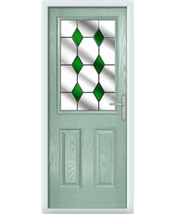 The Farnborough Composite Door in Green (Chartwell) with Green Diamonds