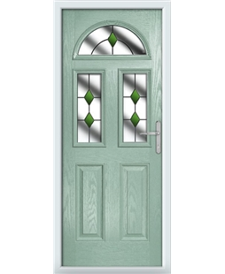 The Glasgow Composite Door in Green (Chartwell) with Green Diamonds