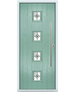 The Leicester Composite Door in Green (Chartwell) with Green Fusion Ellipse