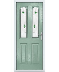 The Aberdeen Composite Door in Green (Chartwell) with Green Murano