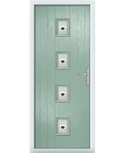 The Uttoxeter Composite Door in Green (Chartwell) with Green Murano