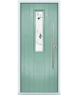 The York Composite Door in Green (Chartwell) with Green Murano