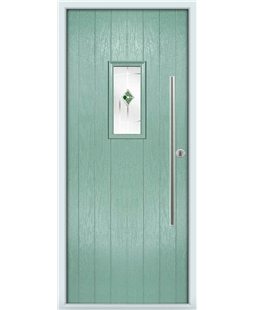 The Zetland Composite Door in Green (Chartwell) with Green Murano