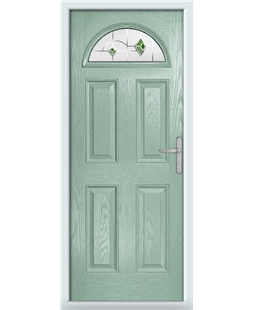 The Derby Composite Door in Green (Chartwell) with Green Murano