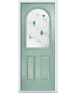 The Edinburgh Composite Door in Green (Chartwell) with Green Murano