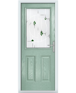 The Farnborough Composite Door in Green (Chartwell) with Green Murano
