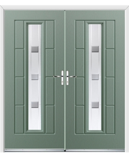 Vermont French Rockdoor in Chartwell Green with Grey Shades