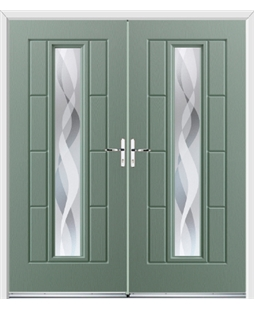 Vermont French Rockdoor in Chartwell Green with Haze