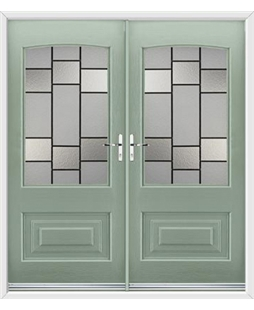 Portland French Rockdoor in Chartwell Green with Horizon