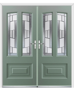 Illinois French Rockdoor in Chartwell Green with Inspire