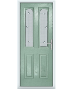 The Aberdeen Composite Door in Green (Chartwell) with Jewel Glazing