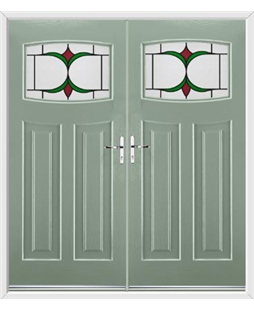 Newark French Rockdoor in Chartwell Green with Jubilee Glazing