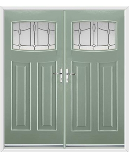 Newark French Rockdoor in Chartwell Green with Lantern Glazing