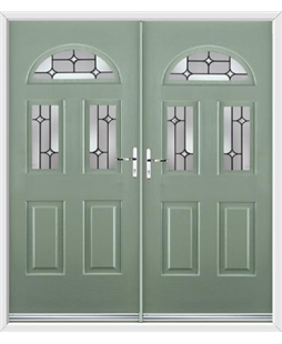 Tennessee French Rockdoor in Chartwell Green with Linear