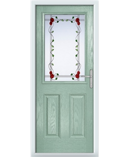 The Farnborough Composite Door in Green (Chartwell) with Mackintosh Rose