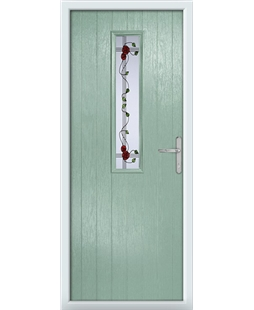 The Sheffield Composite Door in Green (Chartwell) with Mackintosh Rose