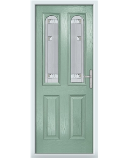 The Aberdeen Composite Door in Green (Chartwell) with Milan Glazing