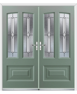 Illinois French Rockdoor in Chartwell Green with Pinnacle